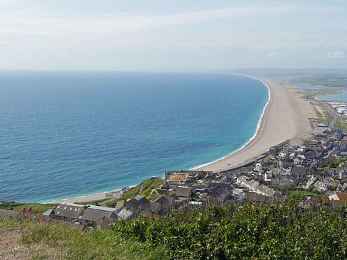 Chesil Beach from The Heights