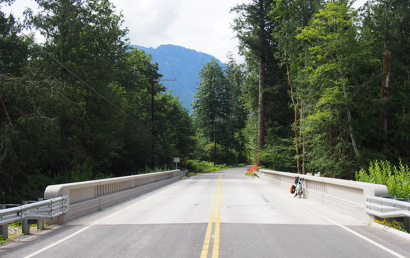 """New May Creek Road Bridge: The <a href=""""https://www.flickr.com/photos/105592384@N07/22592267143"""">original bridge</a> only had a single lane, so it was pretty cool to see a change."""