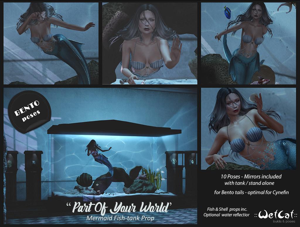 """::WetCat:: """"Part of your world"""" Mermaid prop"""