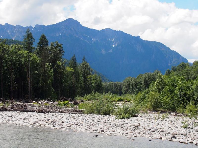 Mountains Over North Fork Skykomish River