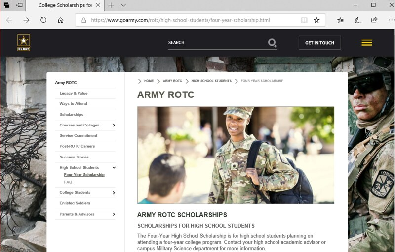 Go Army website