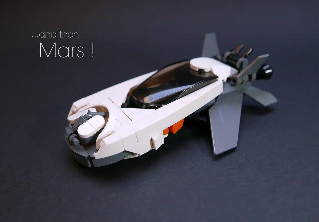 And then Mars! (custom built Lego model)