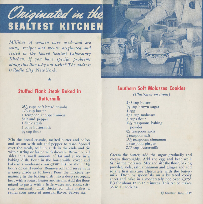 It's Buttermilk Time; Delicious Buttermilk Recipes - 1939