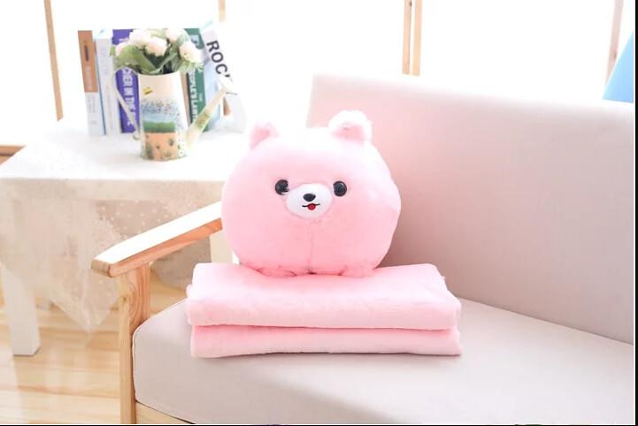 可愛汪星人抱枕毯
