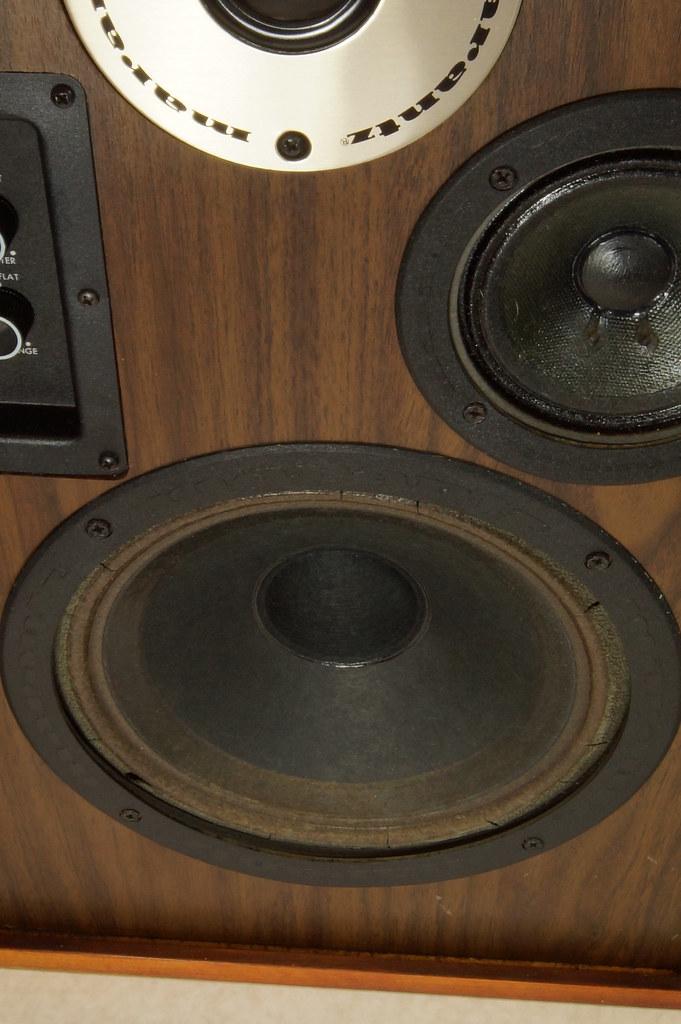 RD28546 Uber RARE 1977 Marantz HD66 Speakers 150 Watts Silverface Tweeter DSC01081
