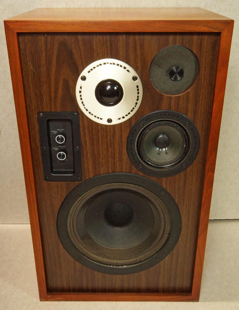 RD28546 Uber RARE 1977 Marantz HD66 Speakers 150 Watts Silverface Tweeter DSC01076