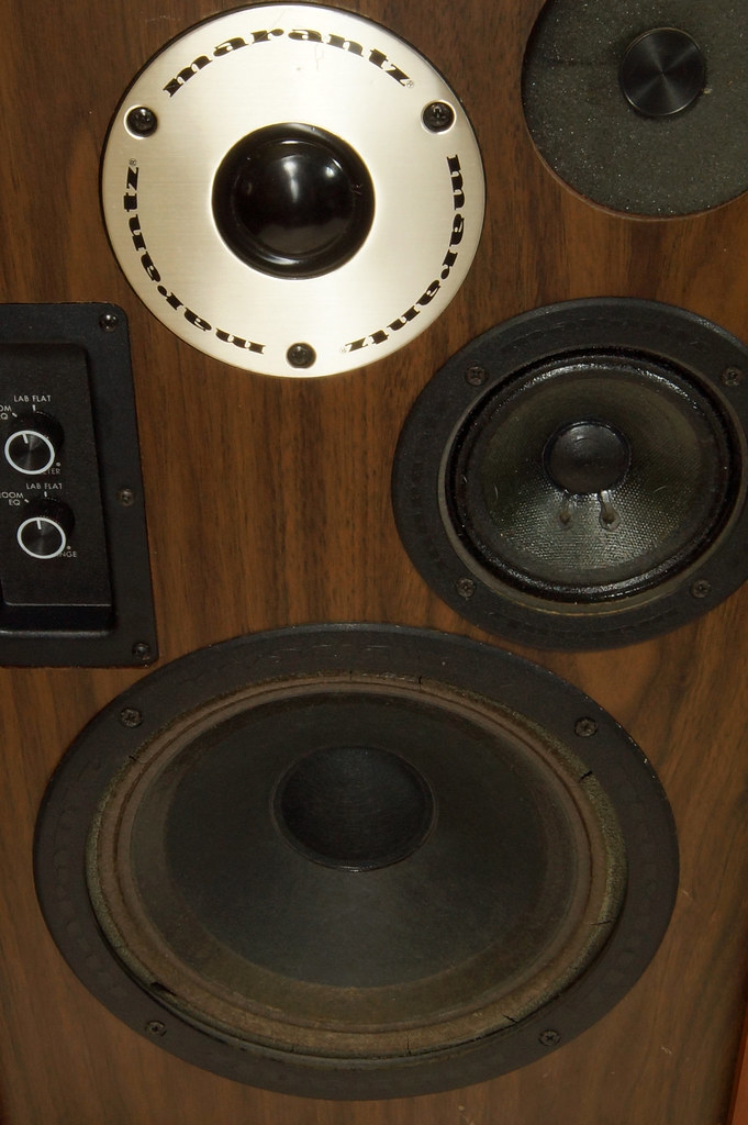 RD28546 Uber RARE 1977 Marantz HD66 Speakers 150 Watts Silverface Tweeter DSC01080