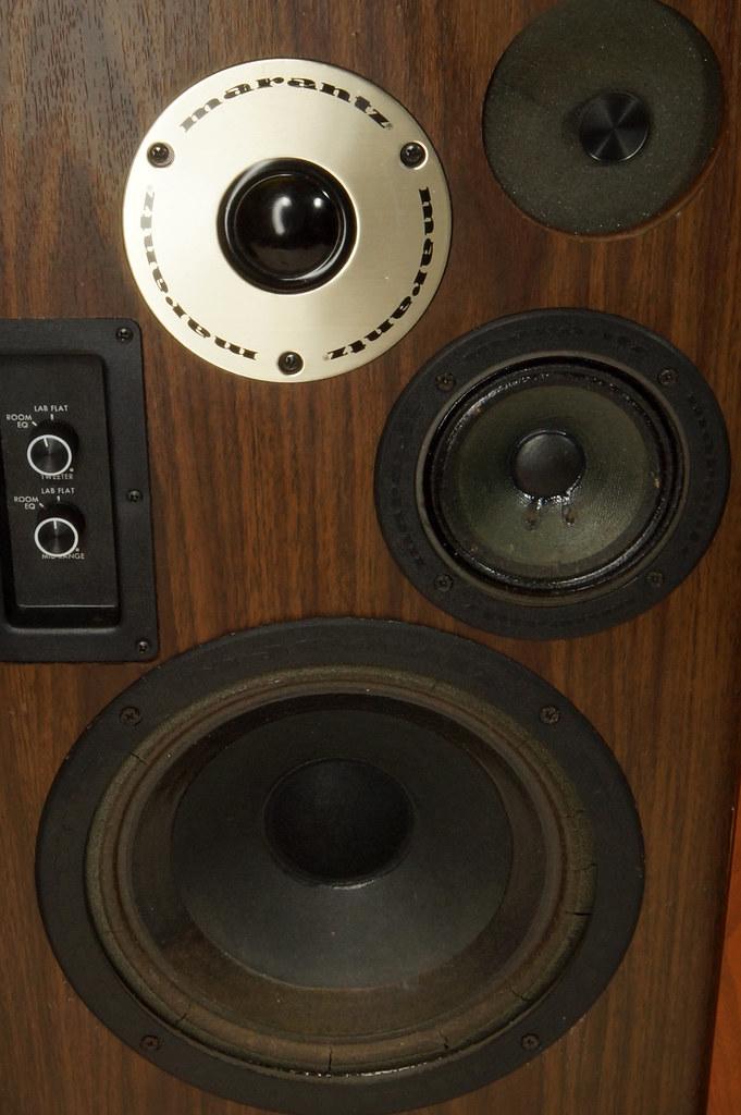 RD28546 Uber RARE 1977 Marantz HD66 Speakers 150 Watts Silverface Tweeter DSC01077