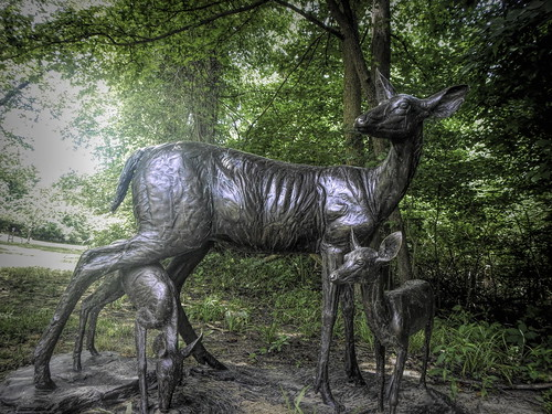 Gilcrease Deer Sculpture