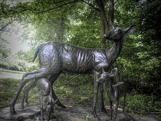 Gilcrease Deer Sculpture | by alnbbates
