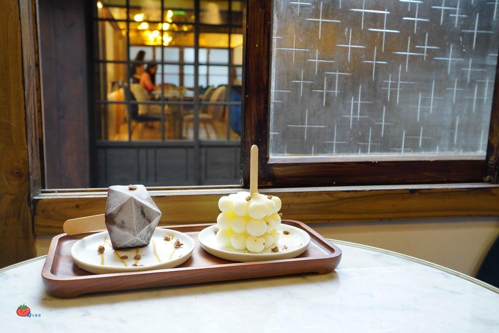 東門老宅咖啡廳金錦町幾何造型冰棒鹹派
