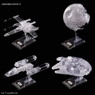 星際大戰組裝模型系列 -《星際大戰六部曲:絕地大反攻》X戰機/Y翼戰機/死星/千年鷹號 四體共同販售!スター・ウォーズ 1/144 & 1/350 & 1/2700000 「スター・ウォーズ/ジェダイの帰還」 クリアビークルセット プラモデル