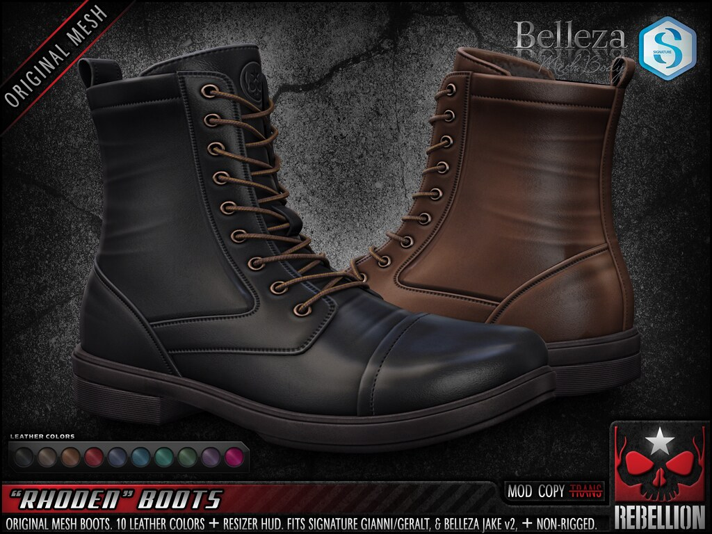 "= REBELLION = ""RHODEN"" BOOTS"