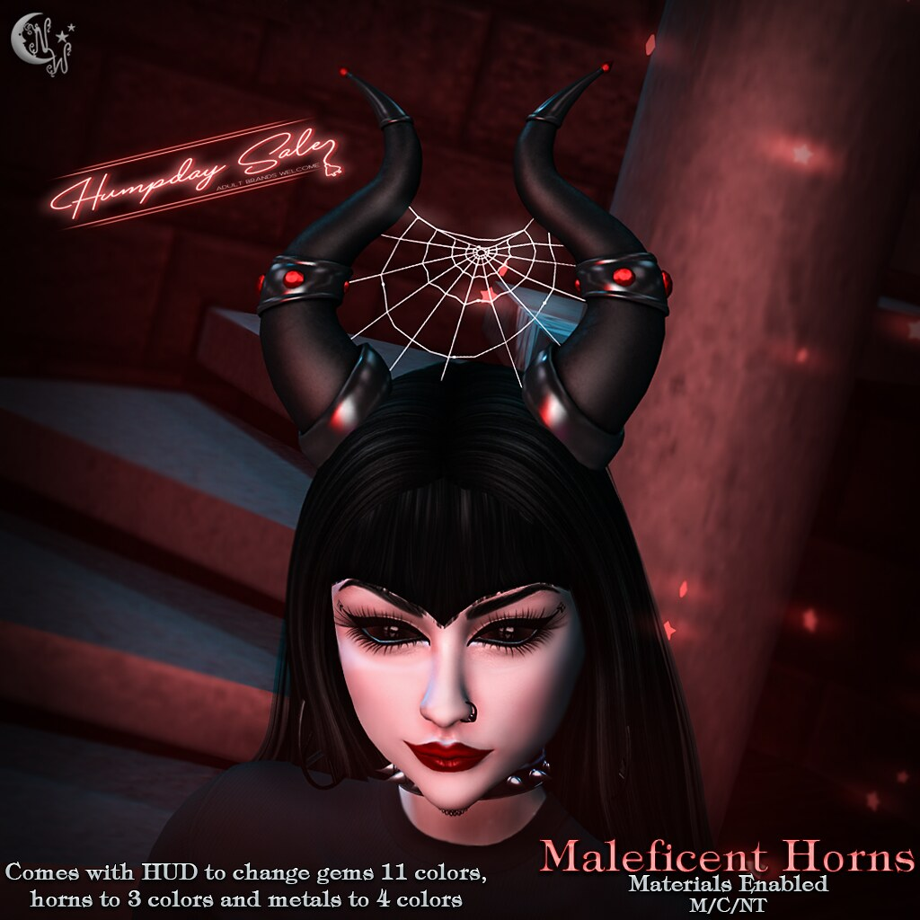 *NW* Maleficent Horns Humpday Sale - TeleportHub.com Live!