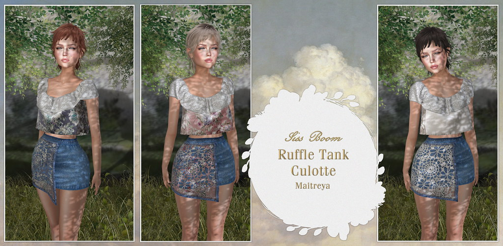 -siss boom-ruffle tank culotte ad