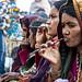 Teeth brushing, Ghats; Varanasi