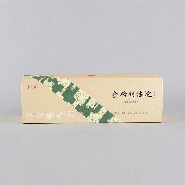 """2019 XiaGuan """"Xiao Fa Tuo"""" 100g*5=500g Gift Box Puerh Ripe Tea Shou Cha"""