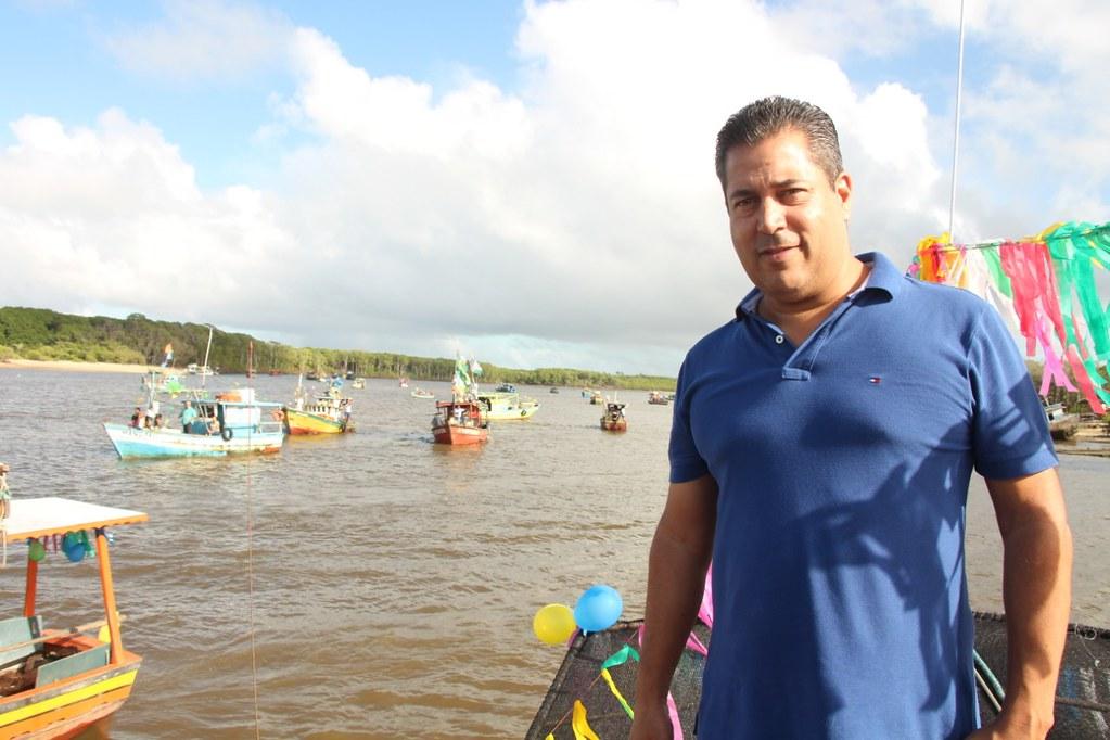 Prefeito de Alcobaça na procissão marítima