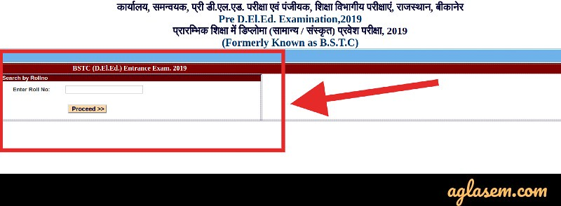 Rajasthan BSTC Result 2019 (Released) at bstc2019 org