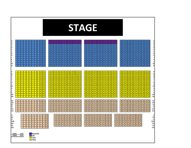 Inspirasi Afgan -  Seating Plan