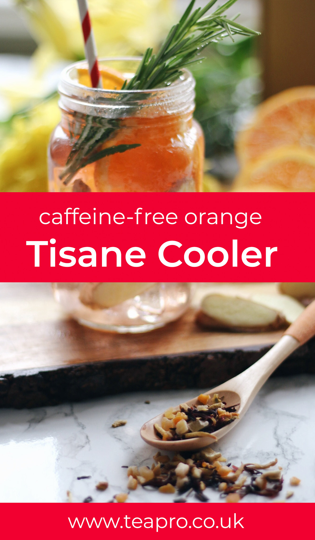 Teapro - Caffeine free orange tisane cooler recipe