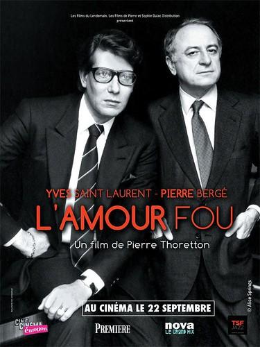 Cartel del estreno de L'amour fou