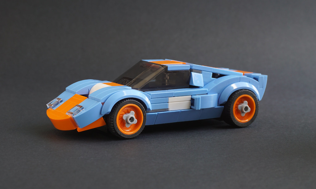 Gulf Racing Ford GT40 mk1 (custom built Lego model)