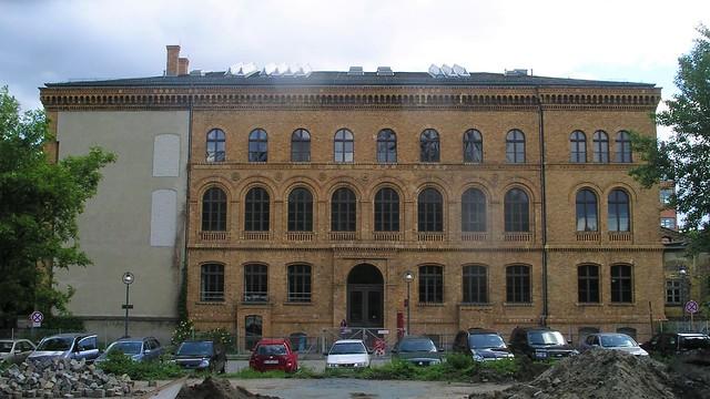 1871/74 Berlin Ostflügel des spätklassizistischen Verwaltungsgebäudes des Anhalter Güterbahnhof von Franz Schwechten Möckernstraße 26 in 10963 Kreuzberg