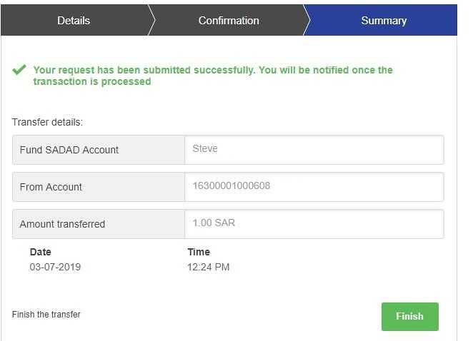 5221 How to transfer funds from Bank Account to SADAD account 08