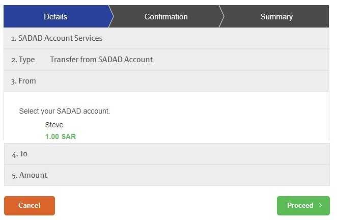 5221 How to transfer funds from Bank Account to SADAD account 10