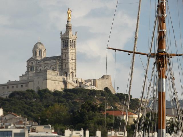 Notre-Dame de La Garde en Marsella (Francia)