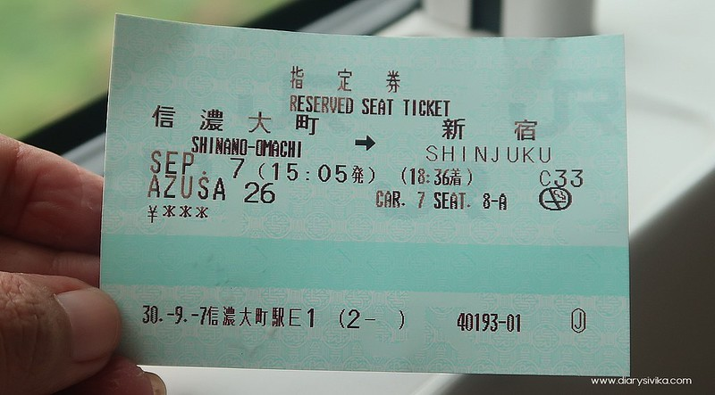 ticket shinkasen