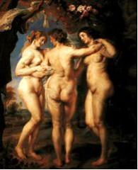 Cuadro de Las tres gracias de Rubens