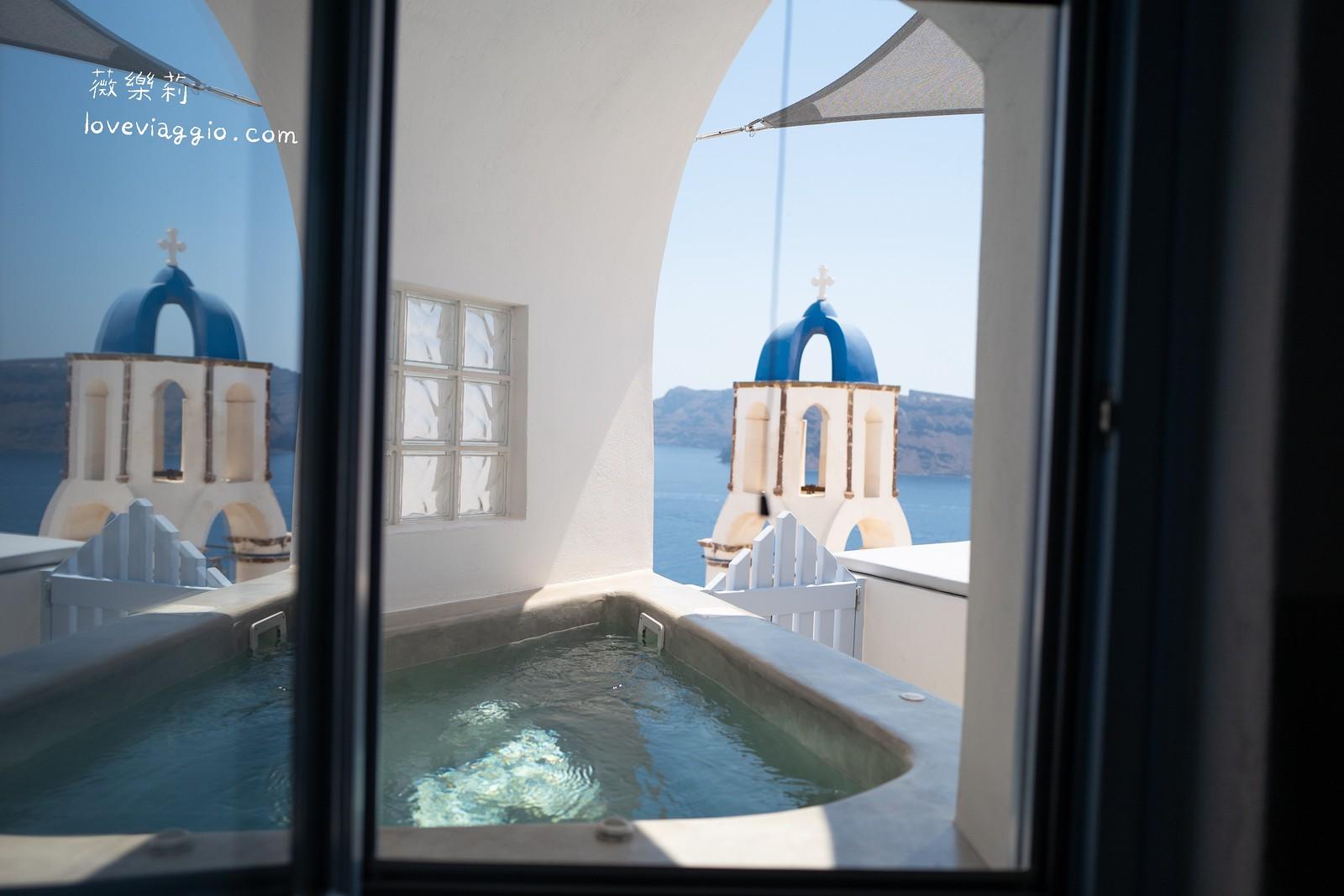 【希臘聖托里尼 Santorini】住在伊亞Oia藍頂教堂前的白色洞穴屋 Bluedome Suite 獨擁明信片美景 @薇樂莉 Love Viaggio | 旅行.生活.攝影