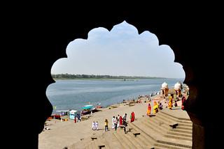 Maheshwar Fort at Narmada Bank