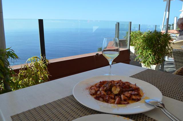 Pulpo a la Gallega with a view, Terraza del Sauzal, Tenerife
