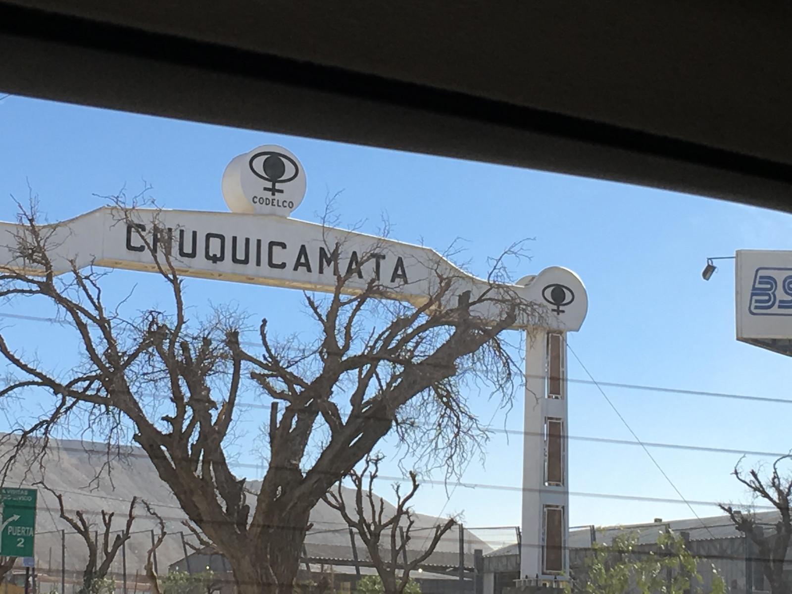 Chuquicamata sign