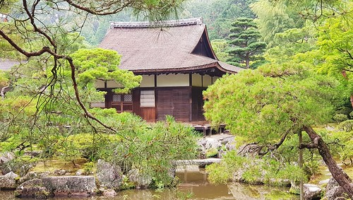 Gebäude im Ginkaku-ji-Tempel