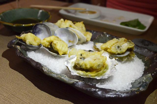 Tempura oysters, Kazan, Santa Cruz, Tenerife