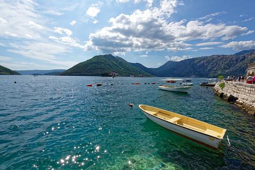 perast montenegro sea clouds mountain sky landscape boat nikon d810