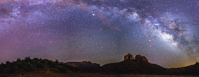 View of the Milky Way over Cathedral Rock