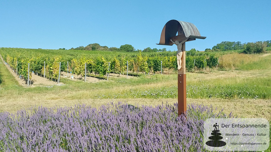 Weinberge, Kreuz und Lavendel