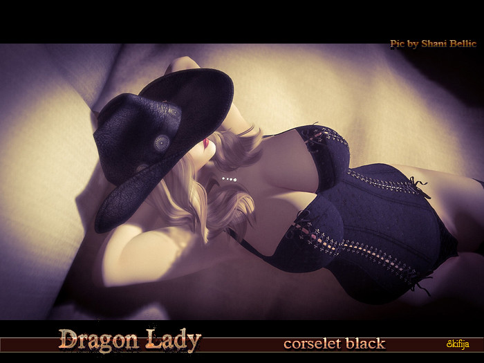 Dragon Lady Corselet Black