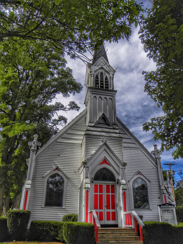 Wyoming  New York - Gaslight Village - United Methodist Church - 1883 - Gothic Architecture