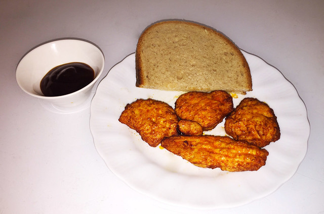 Chicken Fillets with BBQ-Sauce / Hähnchenbrust-Filetinos mit BBQ-Dip