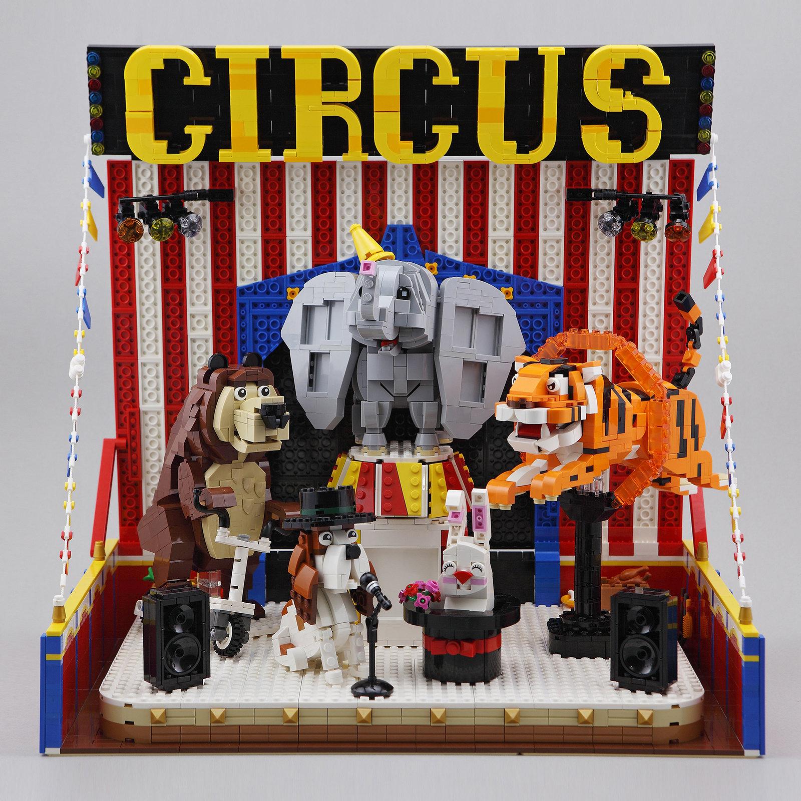 【狗神磚創Moc】Animal Circus - 動物馬戲團