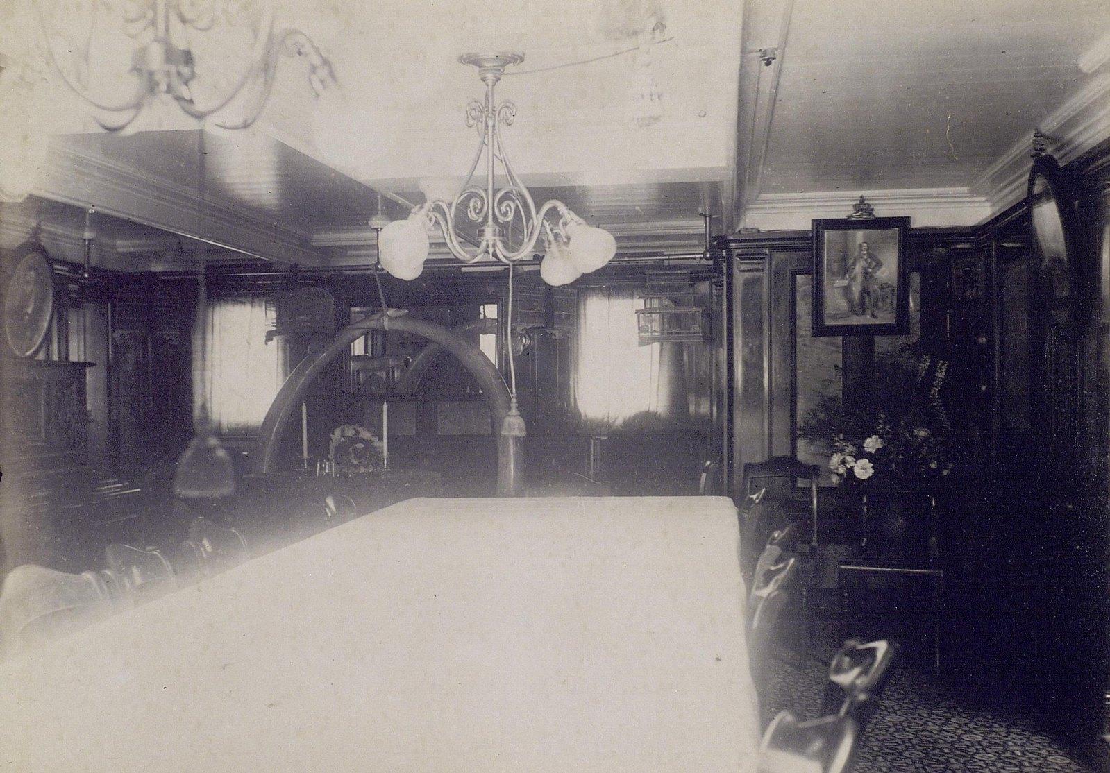 14. 1890. Кают-компания на борту фрегата «Память Азова»