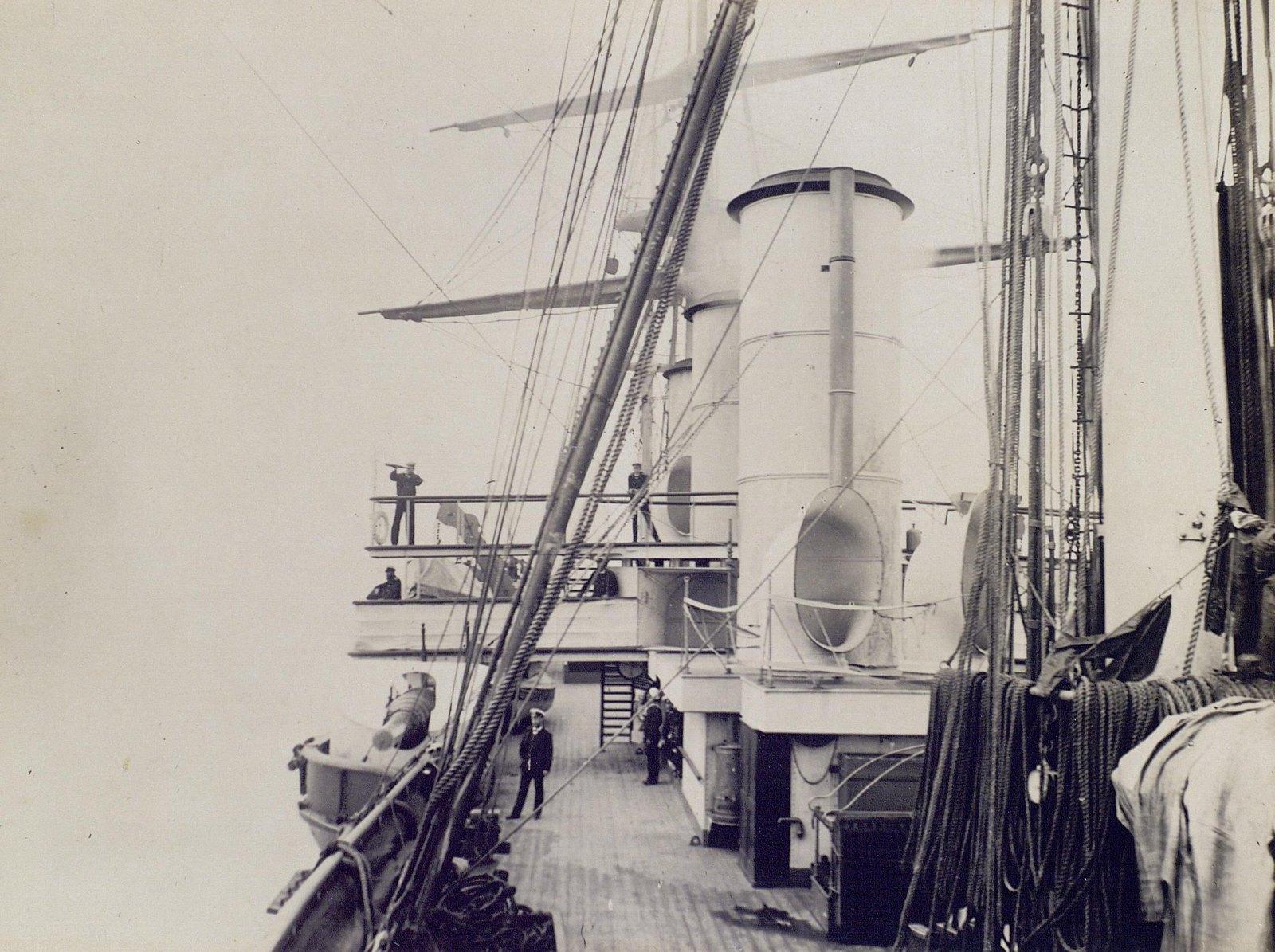06. 1890. Вид на мостик с палубы фрегата  «Память Азова»
