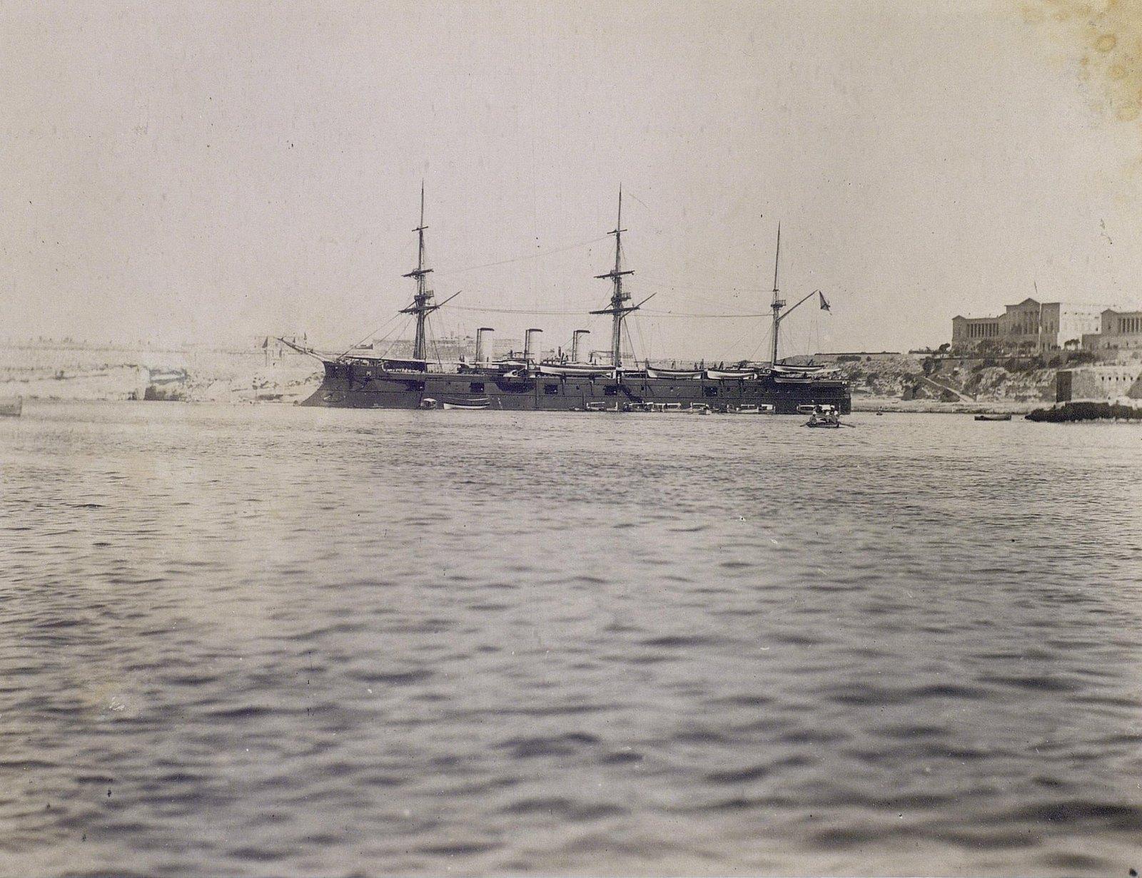 02. 1890. Фрегат «Память Азова» в гавани.