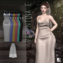 NEW!  Valentina E. Modern Love Gown & Veil @ FaMESHed!